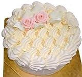バタークリームケーキ【フレッシュ5号】直径約15cm(4?8人分) クリーム量「多め」タイプ 「スポンジにシロップを打つ(しっとりスポンジ)」