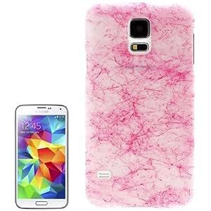 Fluorescent Effect Silk Print Plastic Case for Samsung Galaxy S5 / G900 (Magenta)