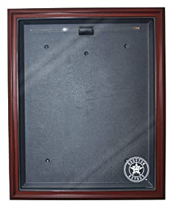 MLB Houston Astros Cabinet Style Jersey Display, Mahogany by Caseworks