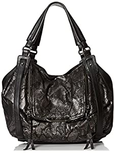 Kooba Handbags Jonnie E Shoulder Bag,Gun Metal Python,One Size
