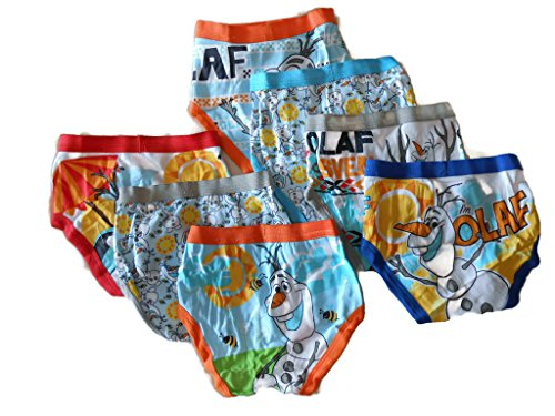 Disney Little Boys' Toddler Frozen Olaf 7-Pack Briefs