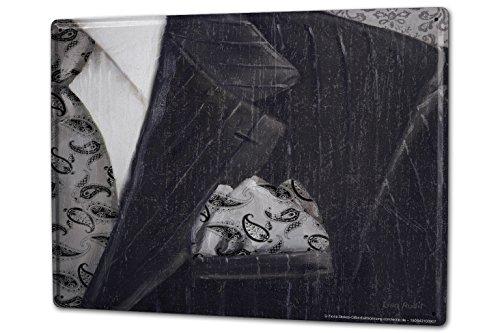 Cartello Targa in Metallo XXL Modo Vestiti Camicia cravatta
