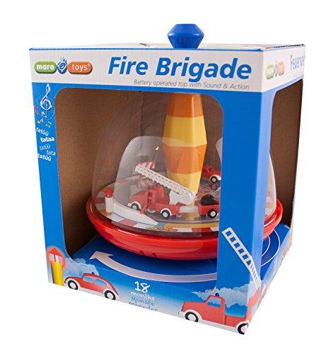 Maro Toys 68030 Feuerwehrkreisel mit Sound, mehrfarbig