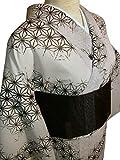 洗える紗着物と紬紗帯セット(M)