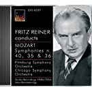 Mozart, W.A.: Symphonies Nos. 35, 36 and 40 (Pittsburgh Symphony, Chicago Symphony, Reiner) (1946, 1947, 1954)