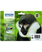 Epson T0895 Multipack Cartouche d'encre d'origine Bleu/Noir/Rose/Jaune