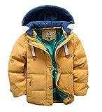 バイシン(BAISHUN)子ども ダウンコート 男女兼用 ダウンジャケット カジュアル 保温 防寒 ダウンジャケット 冬(イエロー120)