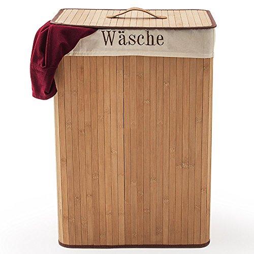 Wäschekorb – Bambus, 70 Liter - 2