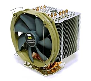Thermalright HR-02 MACHO CPU-Kühler, 6 Heatpipes, 140mm Lüfter, 19dBA, für Sockel LGA1366/1156/1155/775/AM2/AM3