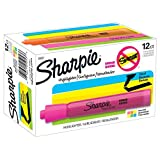 Sharpie 25053  Tank Highlighters, Chisel Tip, Assorted Colors, 12-Count