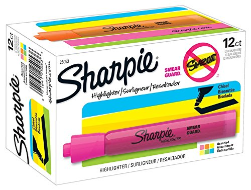 sharpie-tank-highlighters-chisel-tip-assorted-colors-12-count