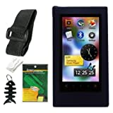 Premium Accessory Bundle Combo For Samsung YP-P3 MP3 Player (8GB, 16GB) Series Combo Pack Includes: Black Silicone Skin Case + Screen Protector + Armband + Belt Clip and Fishbone style Keychain ~ TPA