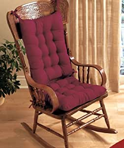 Rocking Chair Cushion Set Burgundy Kitchen Dining