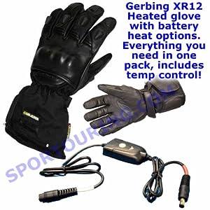 Gerbing XR12 Hybrid Heated Motorcycle Gloves (L)