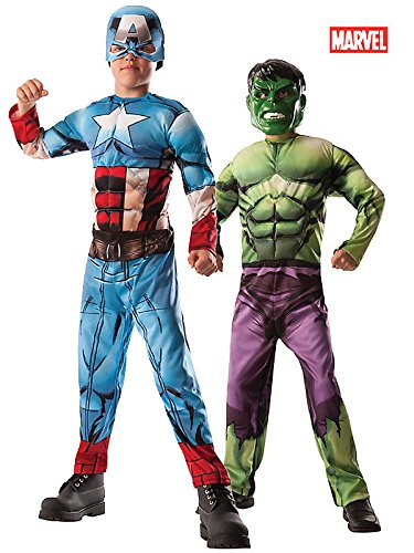 Marvel Avengers 2-In-1 Muscle Chest Hulk/Captain America Deluxe Costume