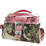 Realtree Belt Buckle Purse Camouflage Handbag Camo Pink Trim
