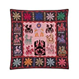 Rajrang Home Décor Embroidered Patch Work Coral Pink Wall Hanging - B00TQRL2C8
