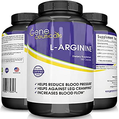 Geneceuticals Potent L-Arginine Supplement Essential Amino Acid