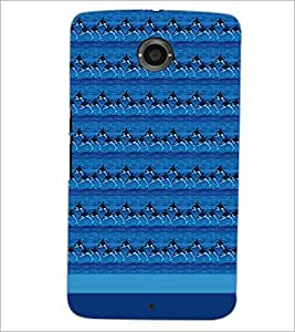 PrintDhaba Dolphin Pattern D-1854 Back Case Cover for MOTOROLA GOOGLE NEXUS 6 (Multi-Coloured)