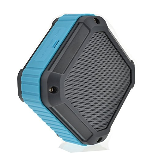 EasyBest Outdoor Sport Rugged Square Design SplashProof Shockproof Dust-proof Portable Bluetooth Shower Stereo Speaker with NFC Tap & Play Technology secure data retrieval with token ensuring possession proof