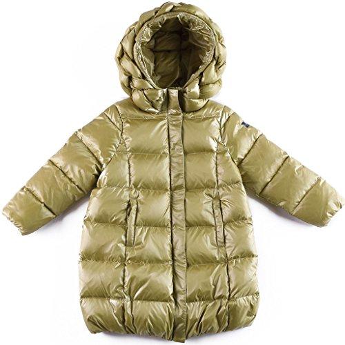 Oceankids Baby Mädchen Grün Knielange Daunenjacke / Mantel mit Reißverschluss 3 Jahre