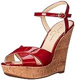 Jessica Simpson Women's Isadoraa Wedge Sandal, Lipstick, 6.5 M US