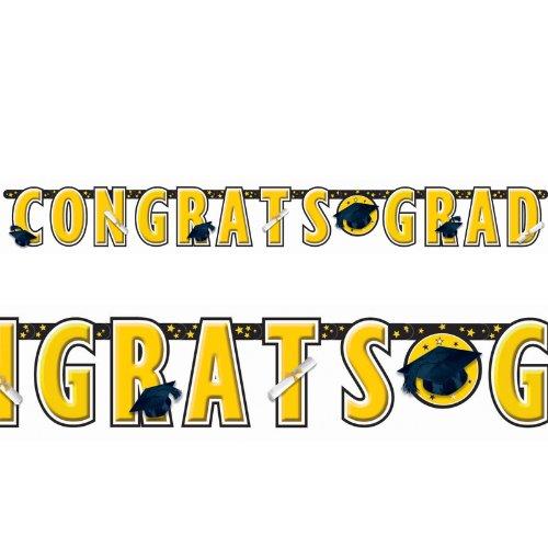 Congrats Grad Yellow Graduation Giant Le