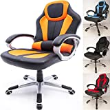 RayGar Deluxe Padded Sports Racing Gaming Chair – Orange