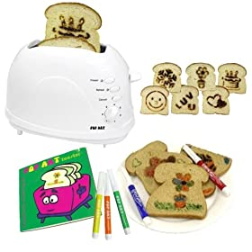 Pop Art Toaster Creativity Coloring Kit - White