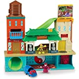 Teenage Mutant Ninja Turtles Pre-Cool Half Shell Heroes Sewer Lair Playset with Michelangelo and Splinter Figures