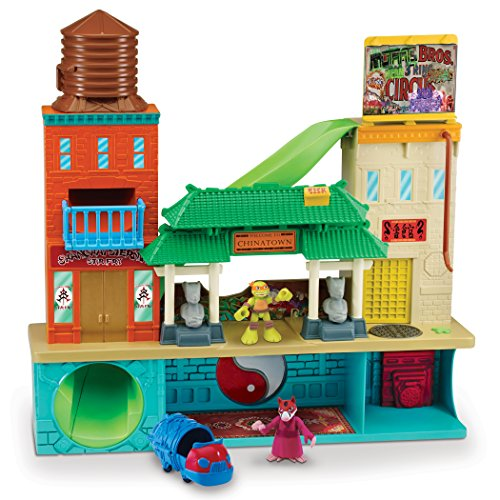 Teenage-Mutant-Ninja-Turtles-Pre-Cool-Half-Shell-Heroes-Sewer-Lair-Playset-with-Michelangelo-and-Splinter-Figures