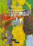 echange, troc Christain Goubault - Vocabulaire de la musique à l'aube du XXe siècle