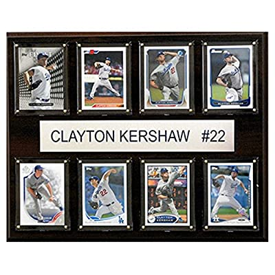 C and I Collectables MLB 15W x 12H in. Clayton Kershaw Los Angeles Dodgers 8 Card Plaque