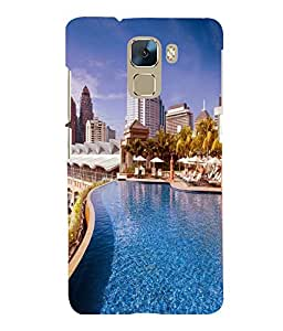 printtech Building Waterpool Back Case Cover for Huawei Honor 7