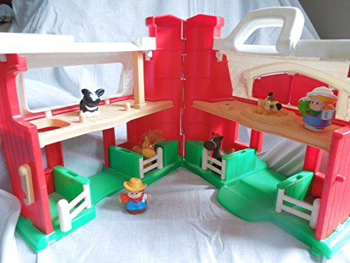 Vintage Fisher Price Little People Farm Barn Playset