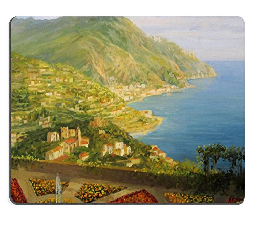 MSD Natural Rubber Mousepad Walk in Villa Rufolo gardens in Ravello is offering a breathtaking view of Amalfi IMAGE 16859886 Stain Resistance Kit Kitchen Table Top Desk Coll