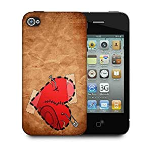Snoogg Broken Heart Designer Protective Phone Back Case Cover For Apple Iphone 4