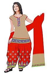 Dharmnandan Fashion Panghat Grey color Cotton Woman's Fancya Dress Material