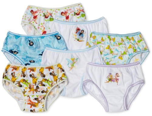 Handcraft Little Girls'  Tinkerbell 7 Pack Underwear, Multi, 4 (Tinker Bell Shoes)