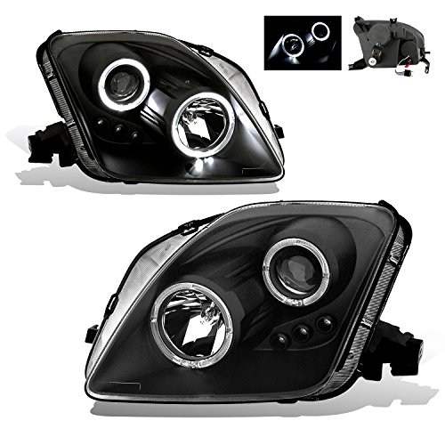SPPC Projector Led Headlights Halo Black For Honda Prelude - (Pair) (Halo Lights For Honda Prelude compare prices)