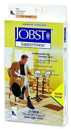 Jobst® for Men Socks, 8 - 15 mmHg (Size: Large: 10 1/2 - 12 1/2, Color: White)