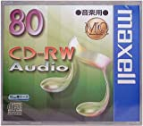 maxell 音楽用 CD-RW 80分 1枚 10mmケース入 CDRWA80MQ.1TP
