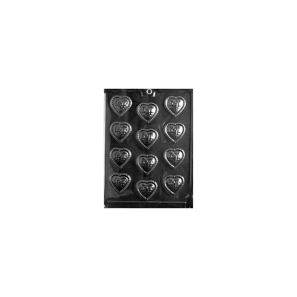 FANCY LOVE HEARTS Valentine Candy Mold chocolate