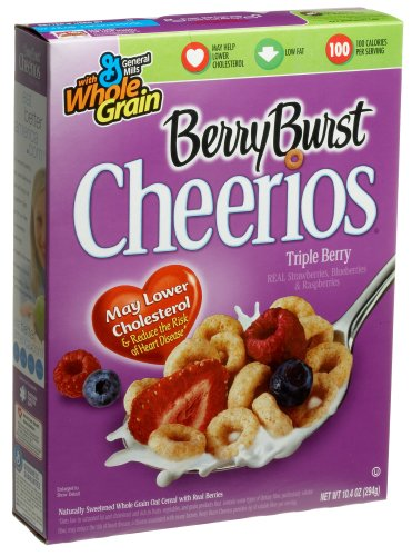Cheerios Triple Berry Burst, 10.4-Ounce Box (Pack of 6)