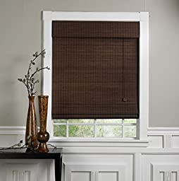 Radiance 0108368 Walnut Bamboo Roman Shade with Valance, 71-Inch Wide by 71-Inch Long