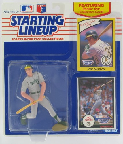 Starting Lineup Jose Canseco With Rookie Collectors Card - 1