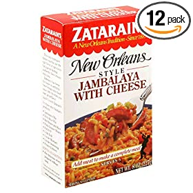 Zatarain's New Orleans Style Jambalaya with Cheese, 8-Ounce Boxes (Pack of 12)