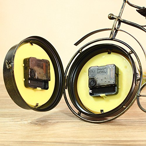 NEOTEND Handmade Vintage Bicycle Clock Bike Mute Two Sided Table Clock 2