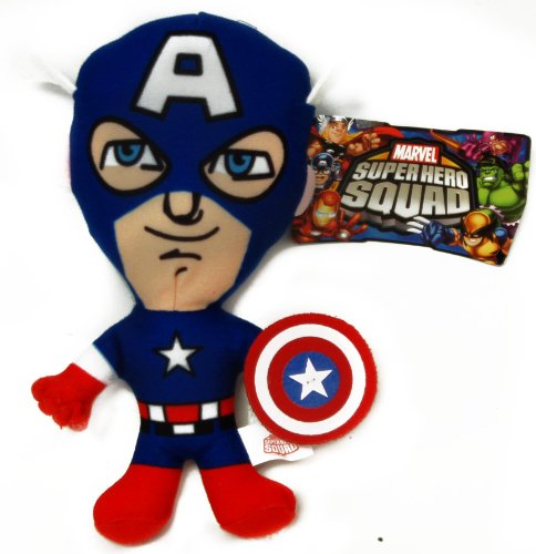 "Marvel Super Hero Big Head 9"" Plush Captain America"