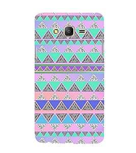 EPICCASE Triangle pattern Mobile Back Case Cover For Samsung Galaxy E7 (Designer Case)